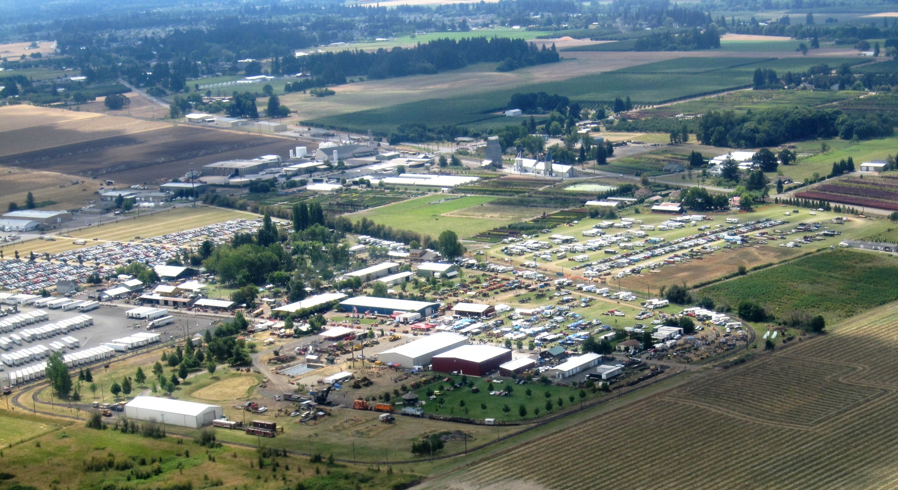 Aerial view of Great Oregon Steam-Up in 2012 Photo Antique Powerland