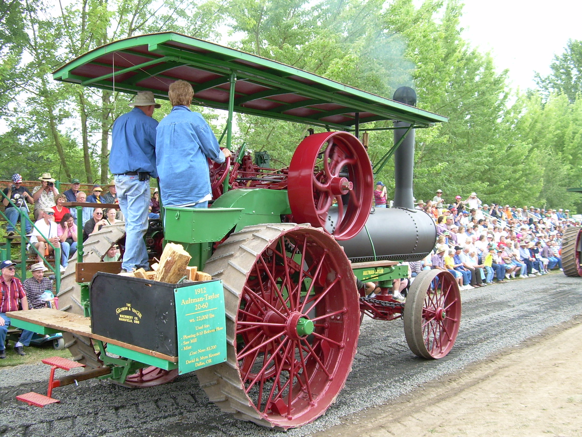 Onlookers fill the bleachers during the tractor parade at the Great Oregon Steam-Up. Photo Antique Powerland