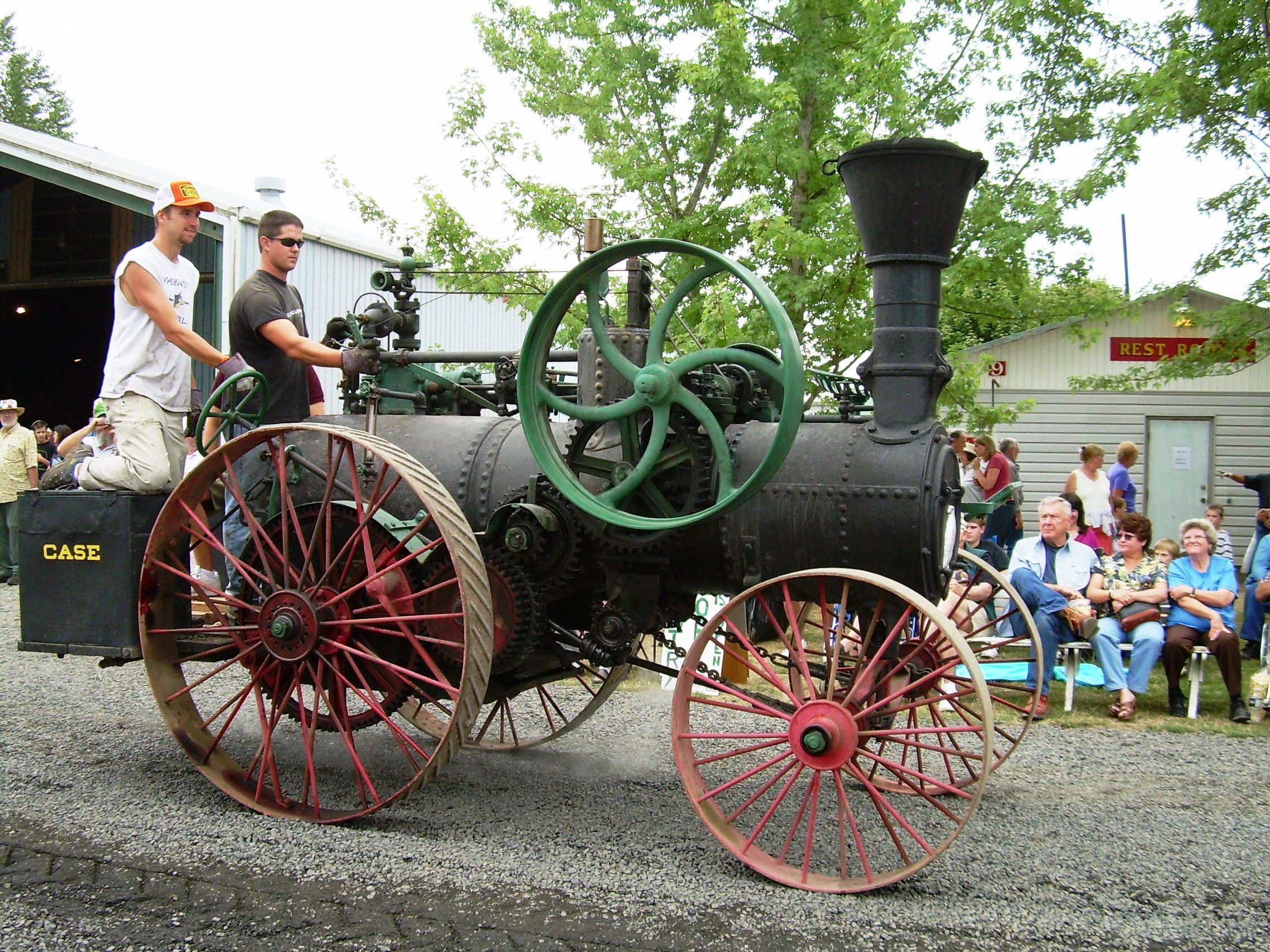 """This 1880 Case tractor was at the Great Oregon Steam-Up. It is considered """"the oldest operating steam tractor in the nation,"""" according to Al Hall. Photo Antique Powerland"""