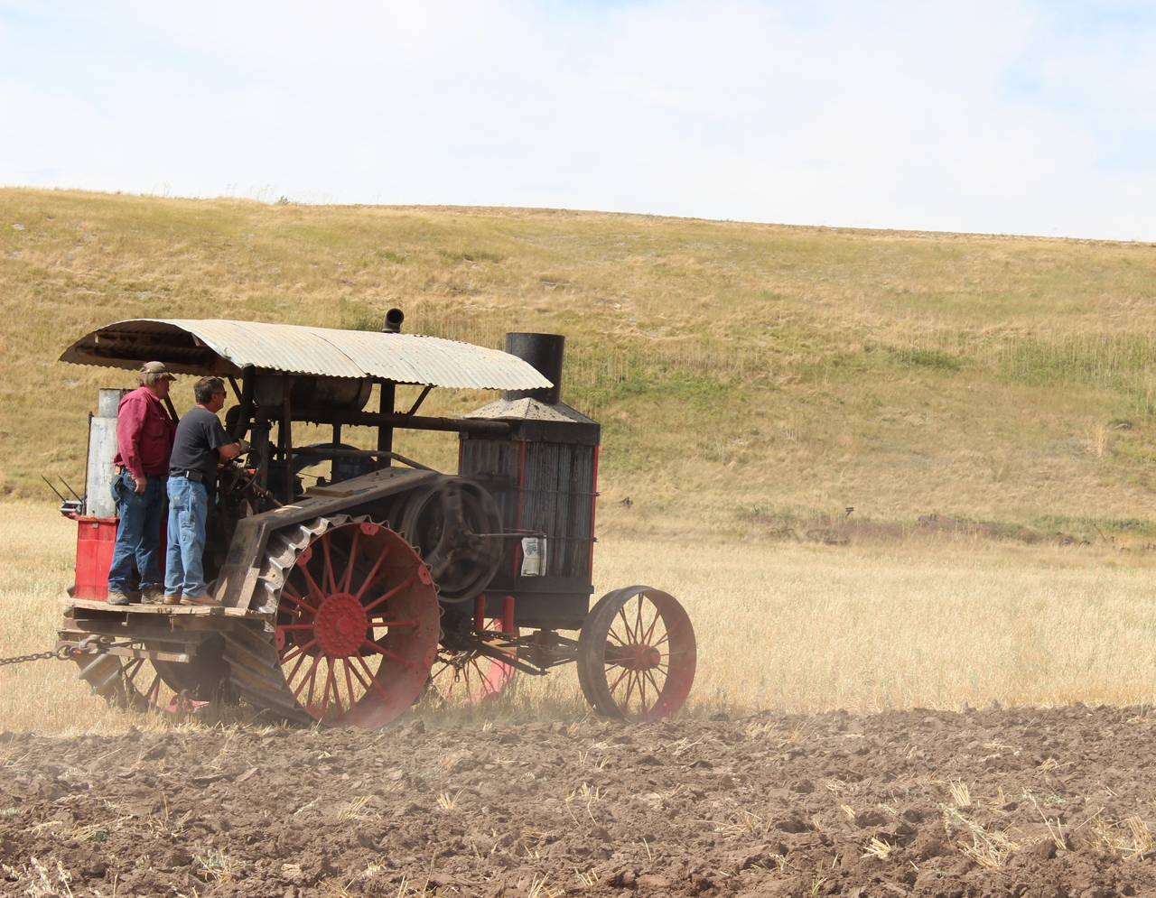 Seeing one of the Old Reliable tractors working as it was meant to is a rare treat today. Aside from the operators' clothing, this could be a scene from the 1910s.  Photo Luke Steinberger