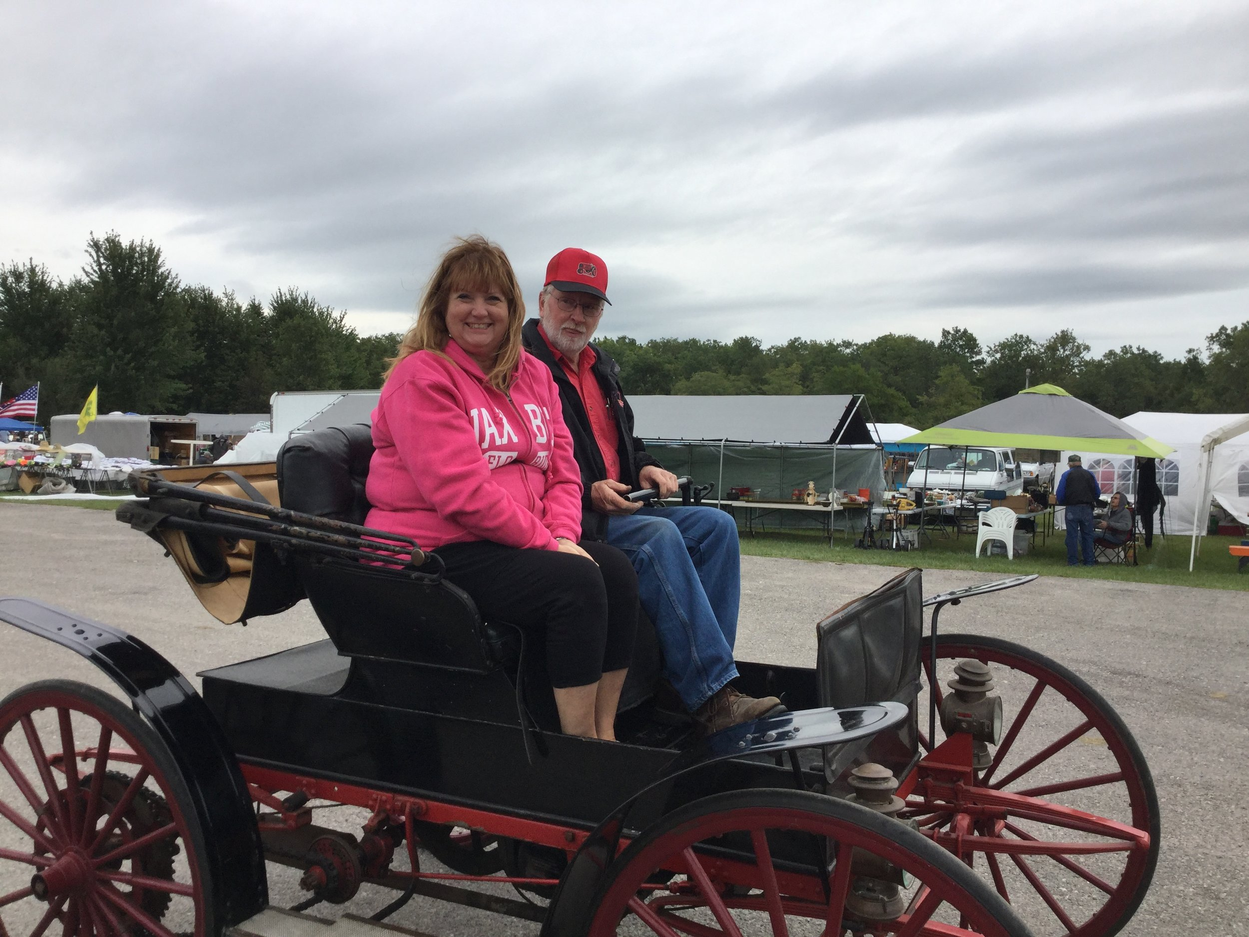 Kent Jansen gave me a ride in his awesome 1909 Sears Motor Buggy at the Sandusky County Restorers of Antique Power (SCRAP) show.