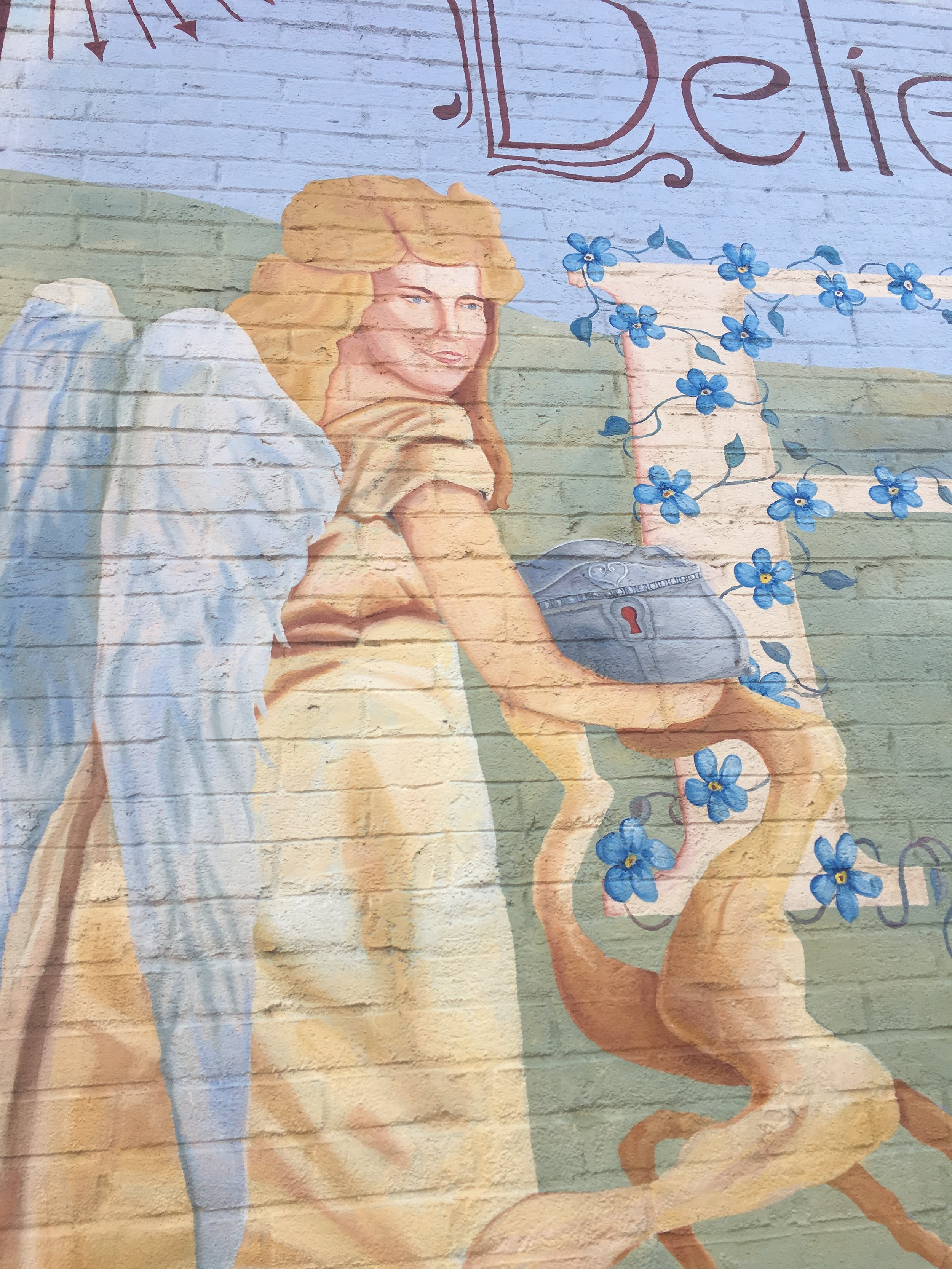 Beauty can be found in many ways along the Spoon River Valley Drive. This mural is one example.