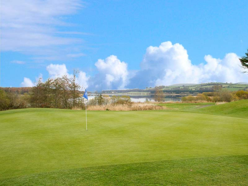 Tulfarris Hotel and Golf Resort the 9th hole on a sunny day.jpg