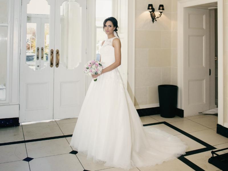 Tulfarris Hotel & Golf Resort wedding bride posing with bouquet.jpg