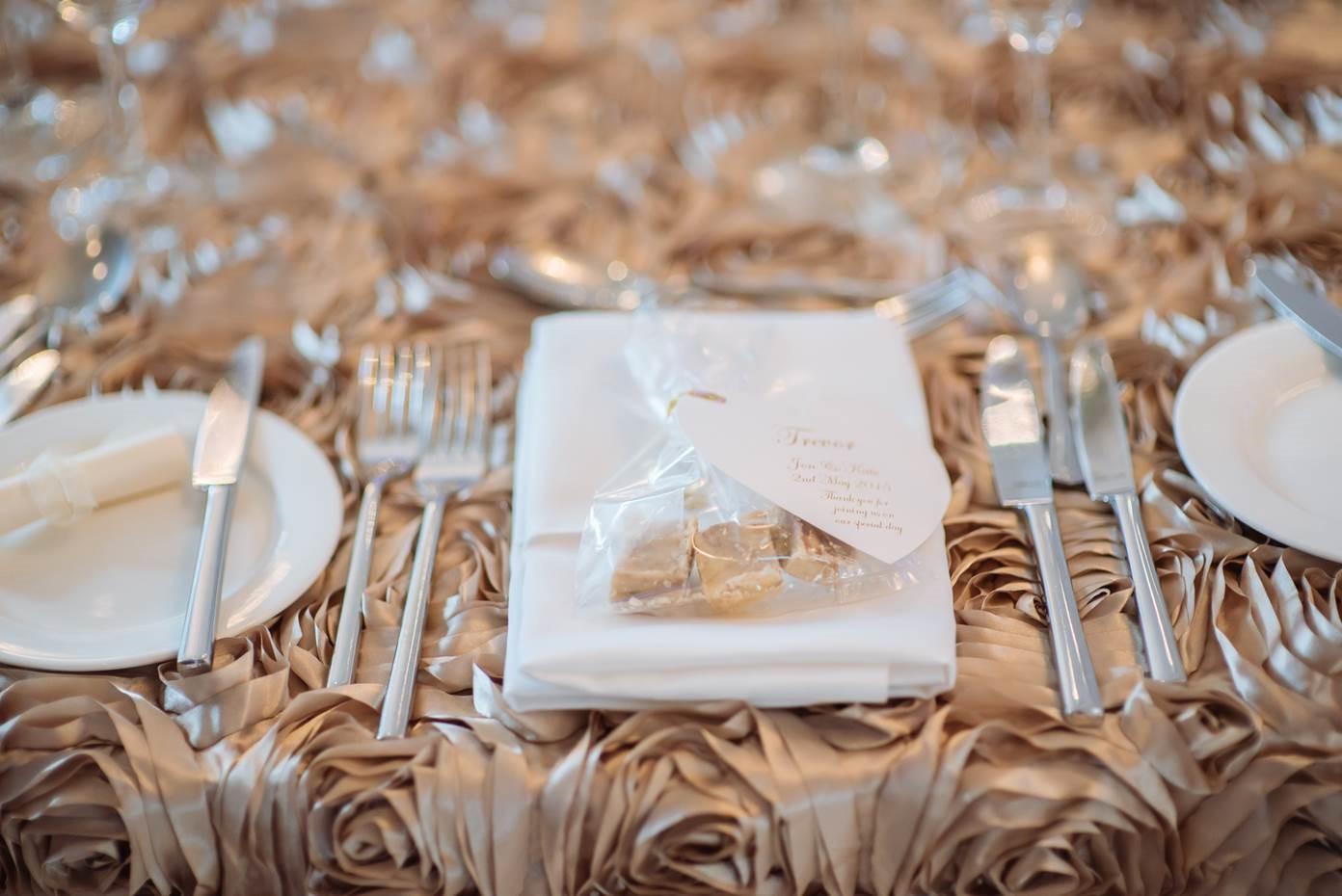 Tulfarris Hotel Wedding flower table cloth and table setting.jpg