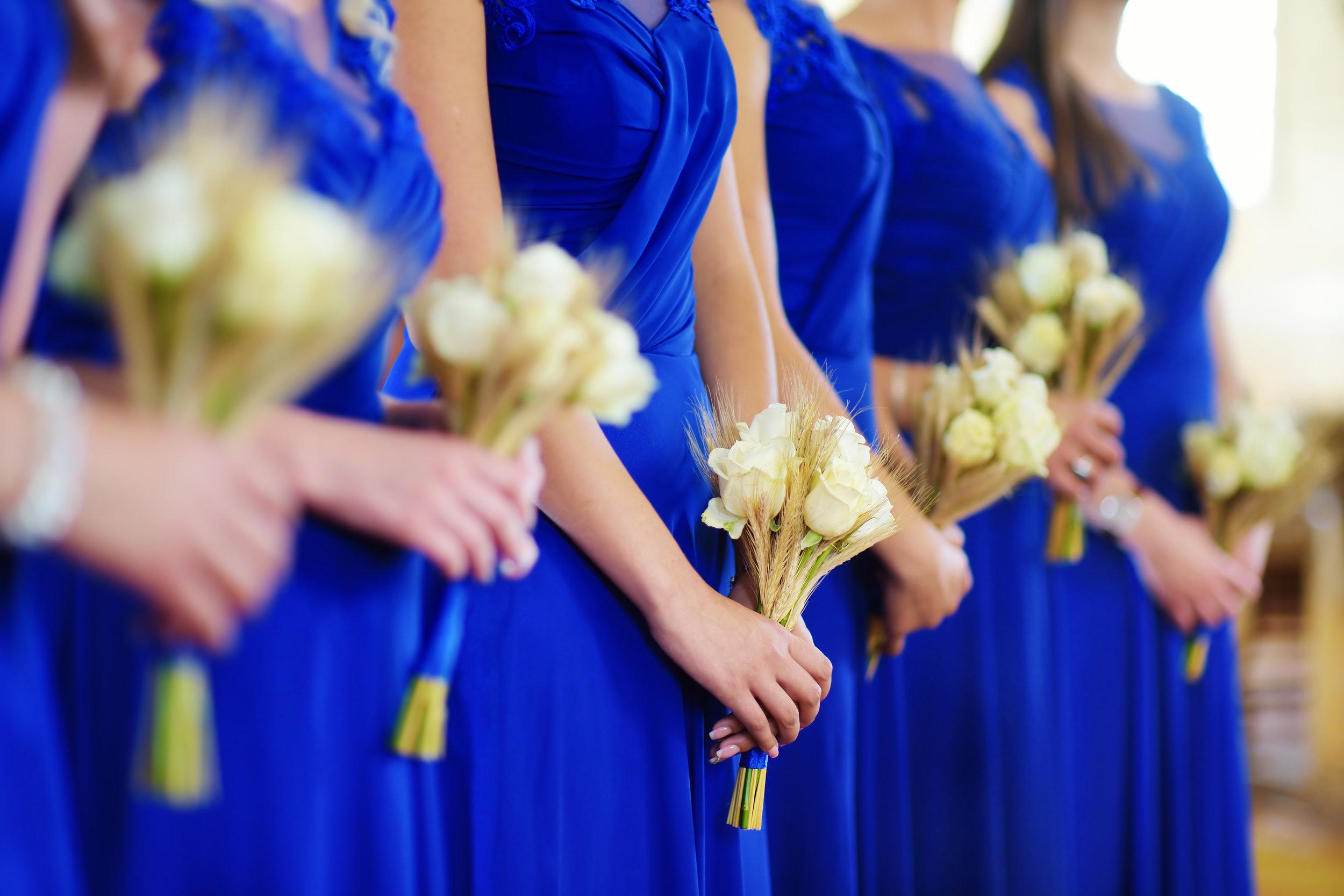 Tulfarris Hotel Wedding Blog Blue Bridesmaid dresses.jpg