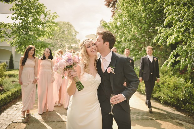 Tularris Hotel and Golf Resport wedding party in pink.jpg
