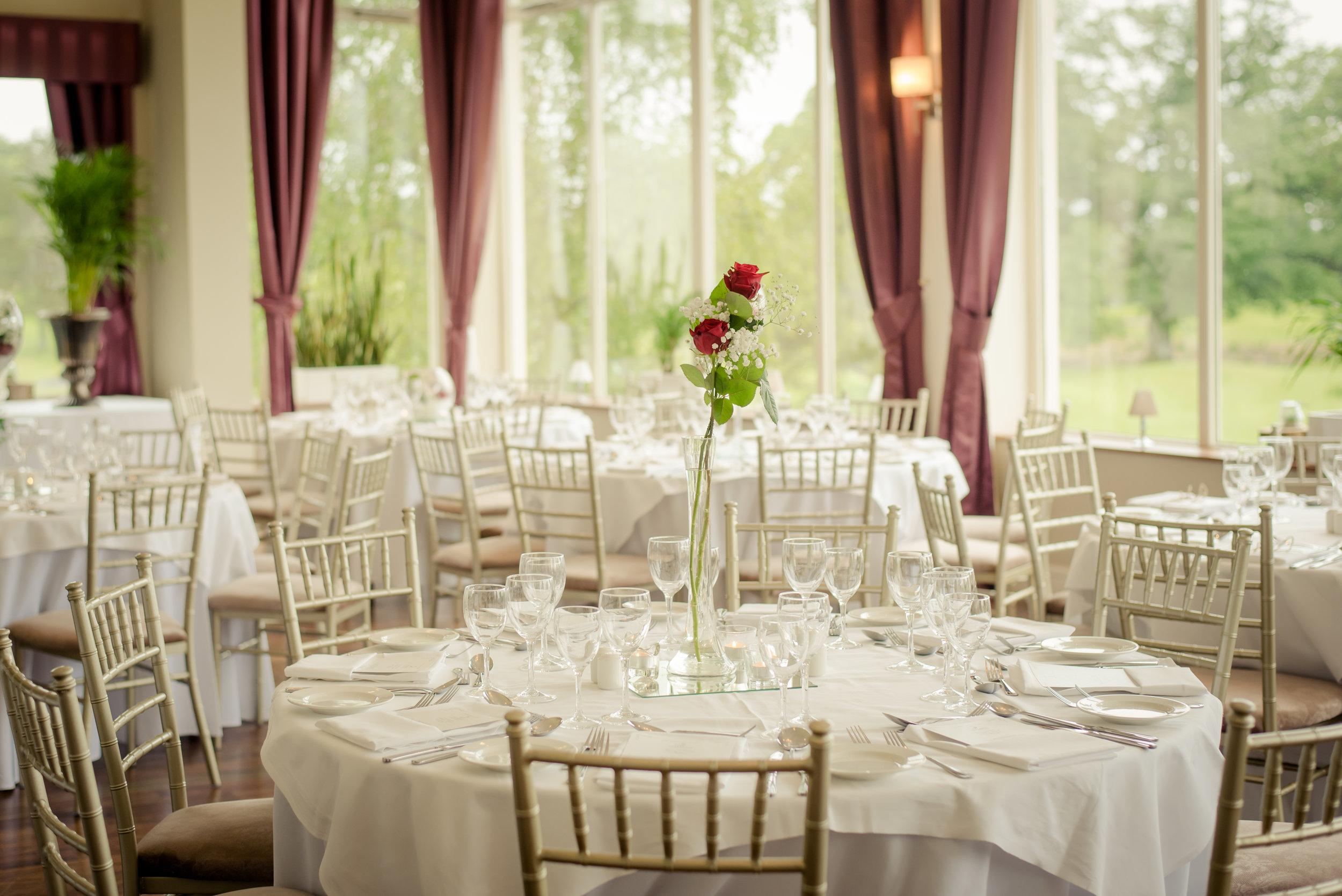 Tulfarris Hotel & Golf Resort Lime Tree Restaurant intimate wedding setting.jpg