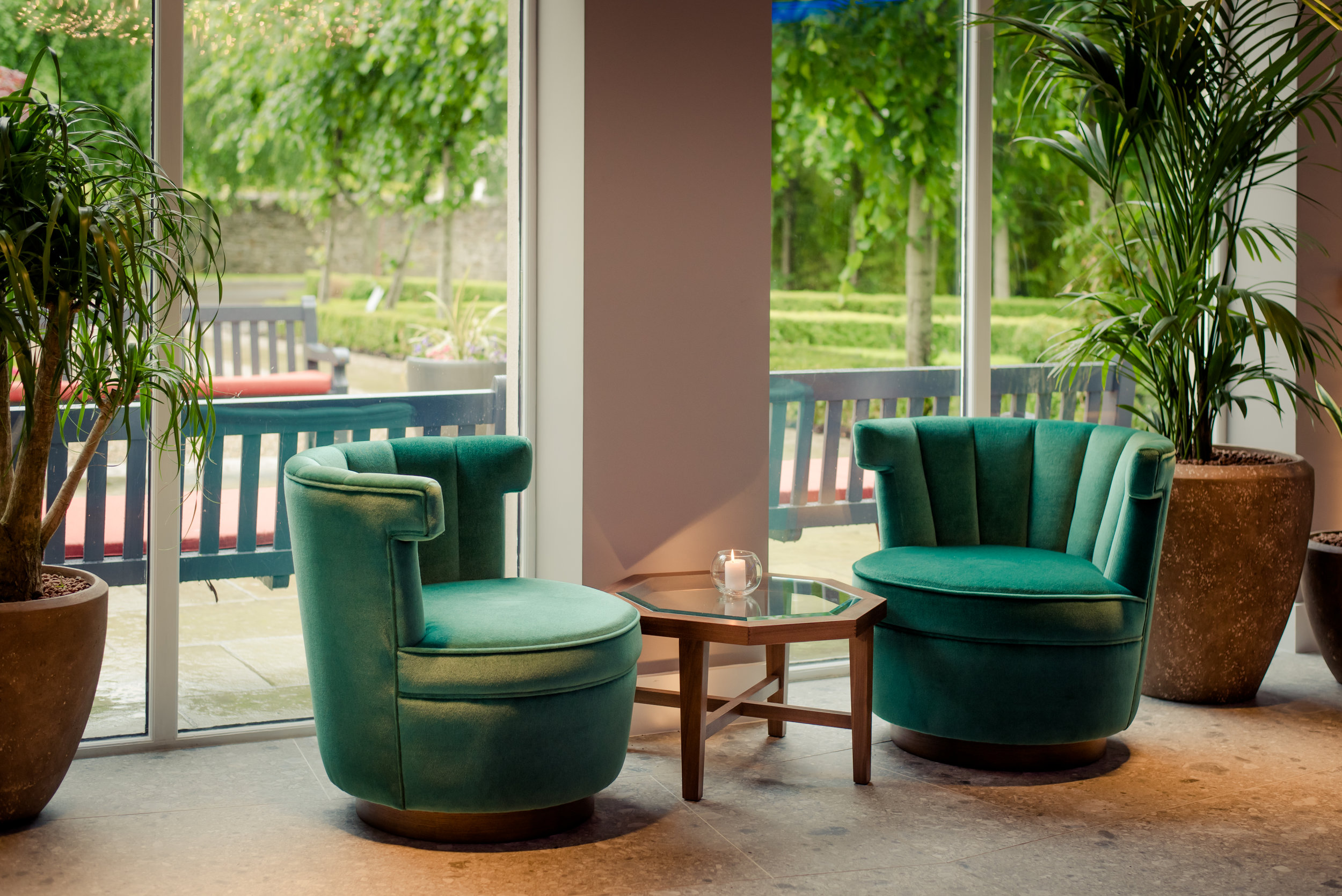 Tulfarris Hotel & Golf Resort lobby seating by the entrance.jpg