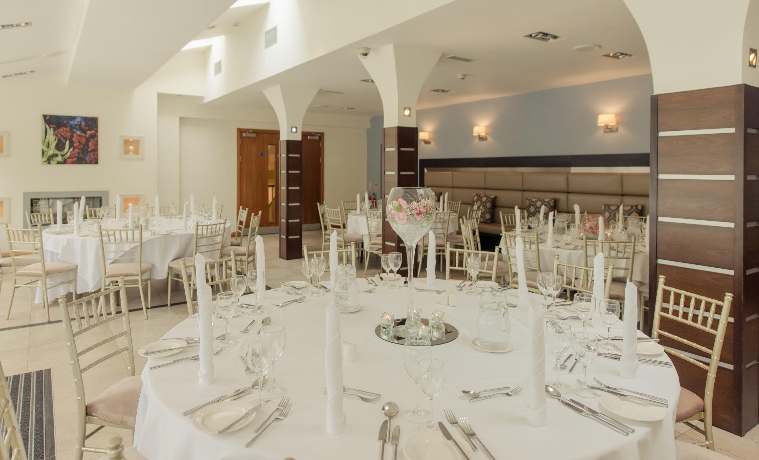 Tulfarris Hotel & Golf Resort Manor House Bar set for a wedding.jpg