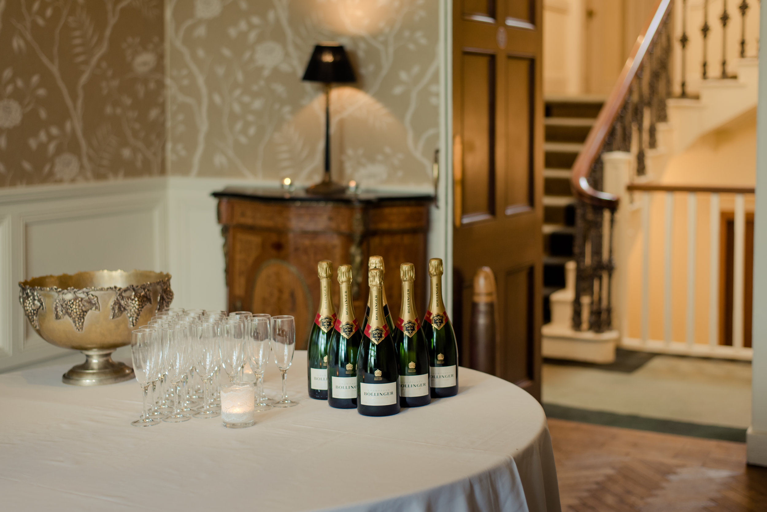Tulfarris Hotel & Golf Resort Manor House reception with champagne.jpg