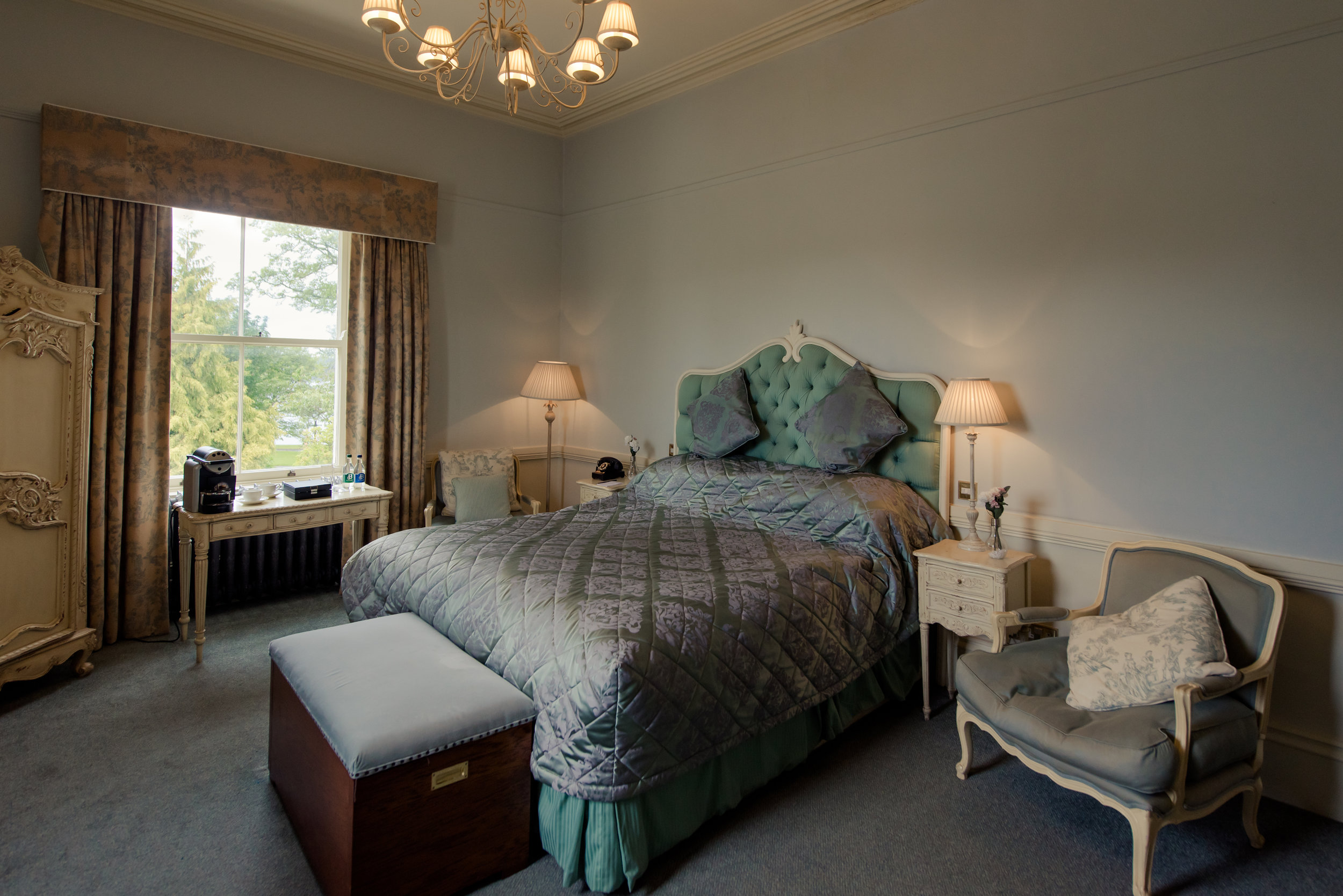 Tulfarris Hotel & Golf Resort Manor House with window view and chandelier.jpg