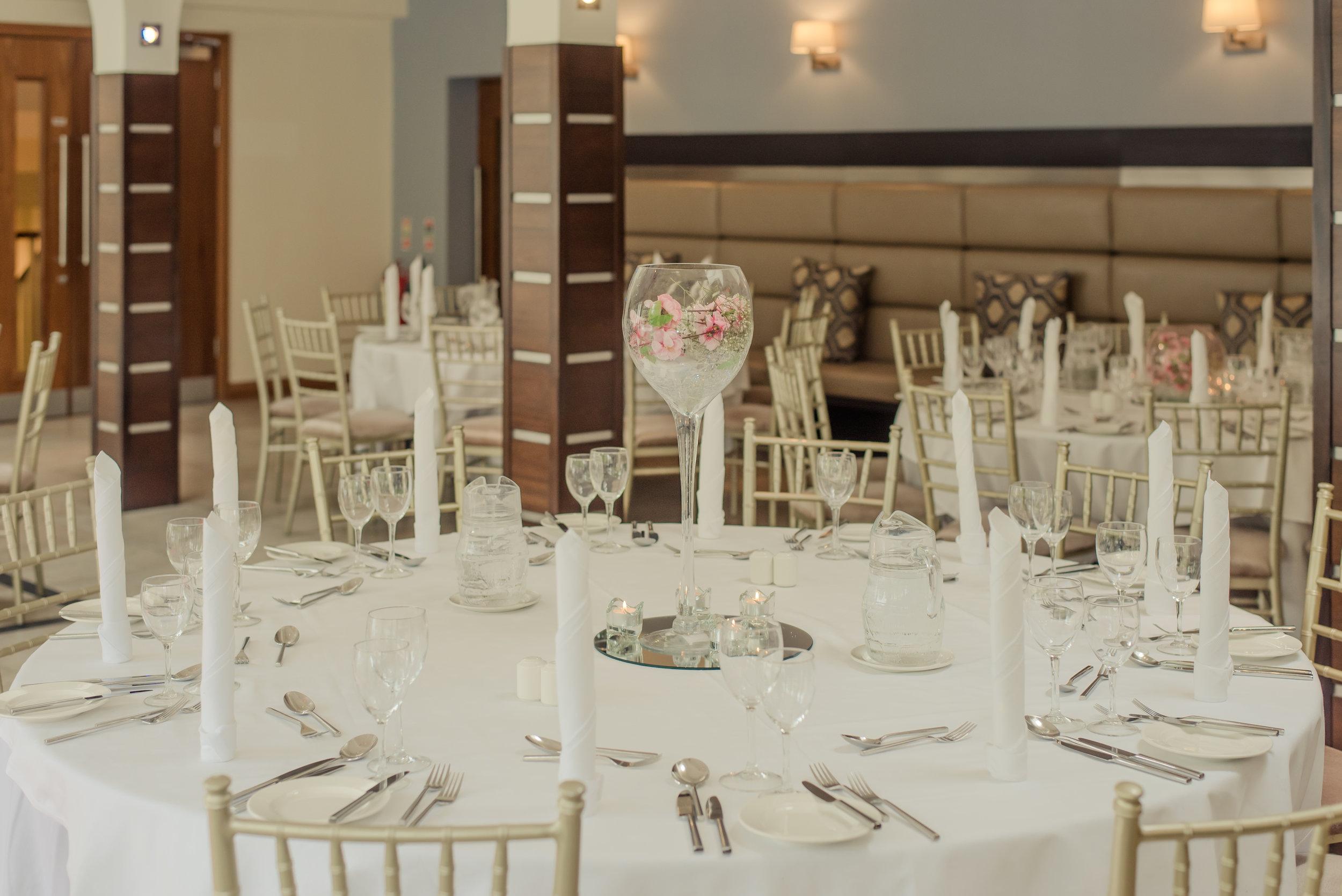 Tulfarris Hotel & Golf Resort wedding table set in Manor House Bar.jpg