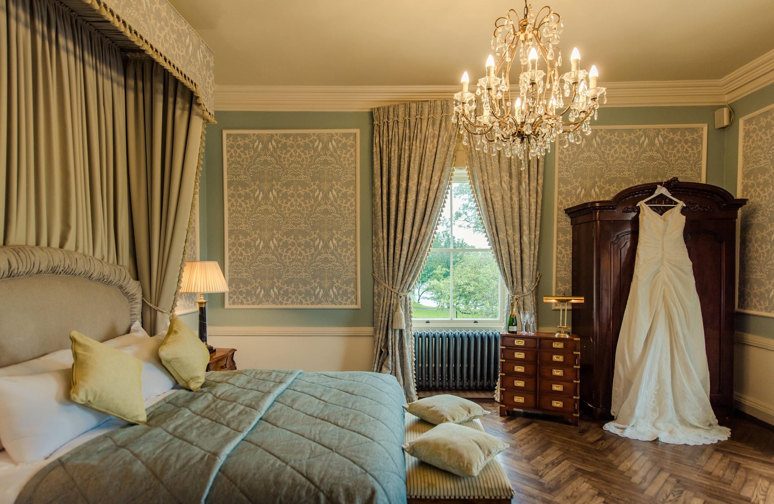 Tulfarris Hotel & Golf Resort Wych Hazel bridal suite with wedding dress.jpg
