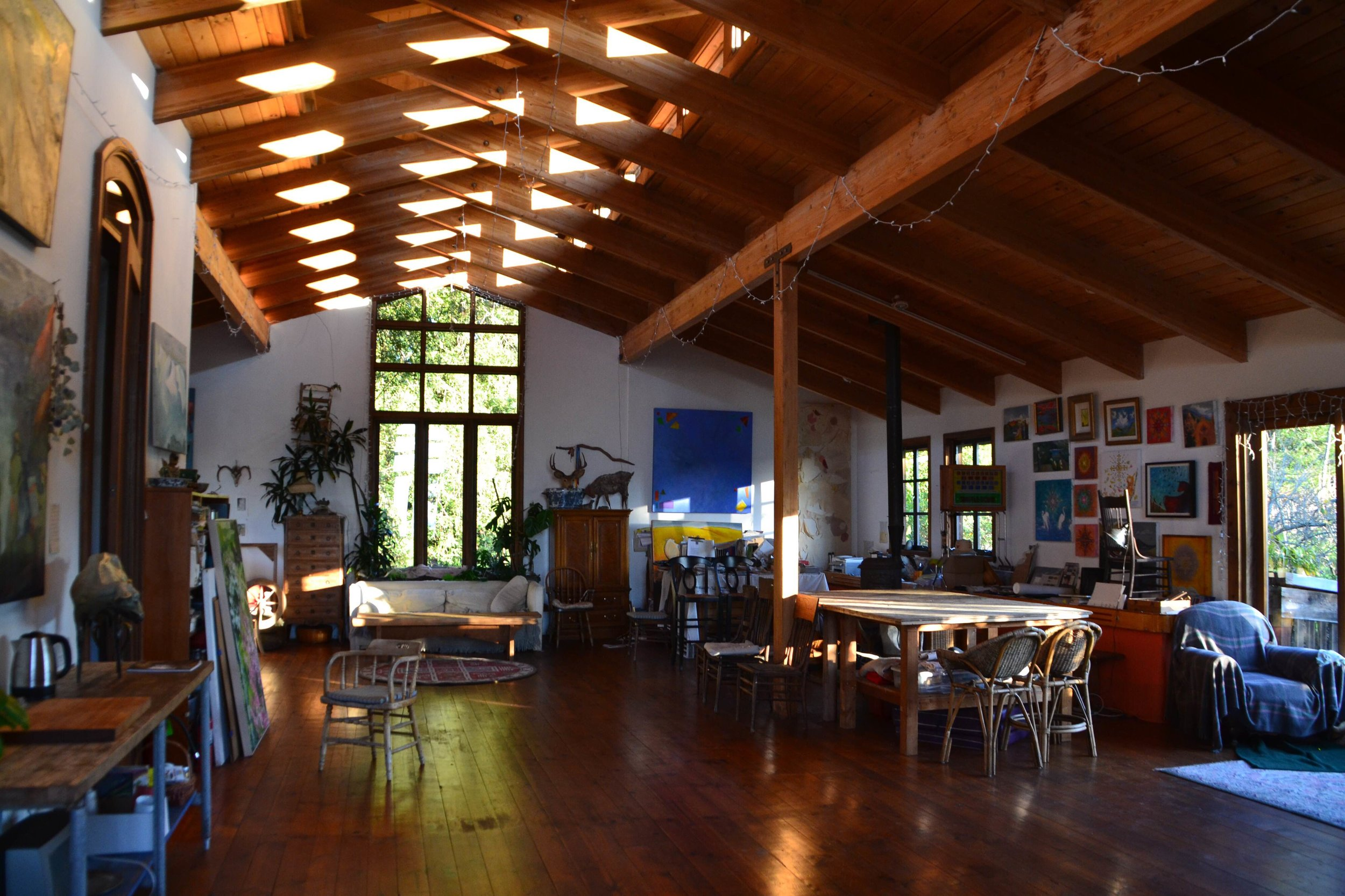 The Barn serves the camp for meals, practice sessions, concerts, and spontaneous jams