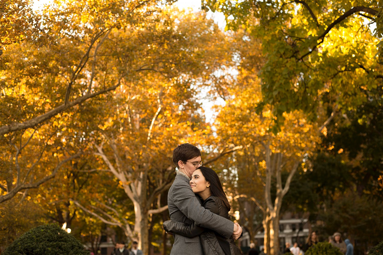 washington square park couple walking engagement posing ideas