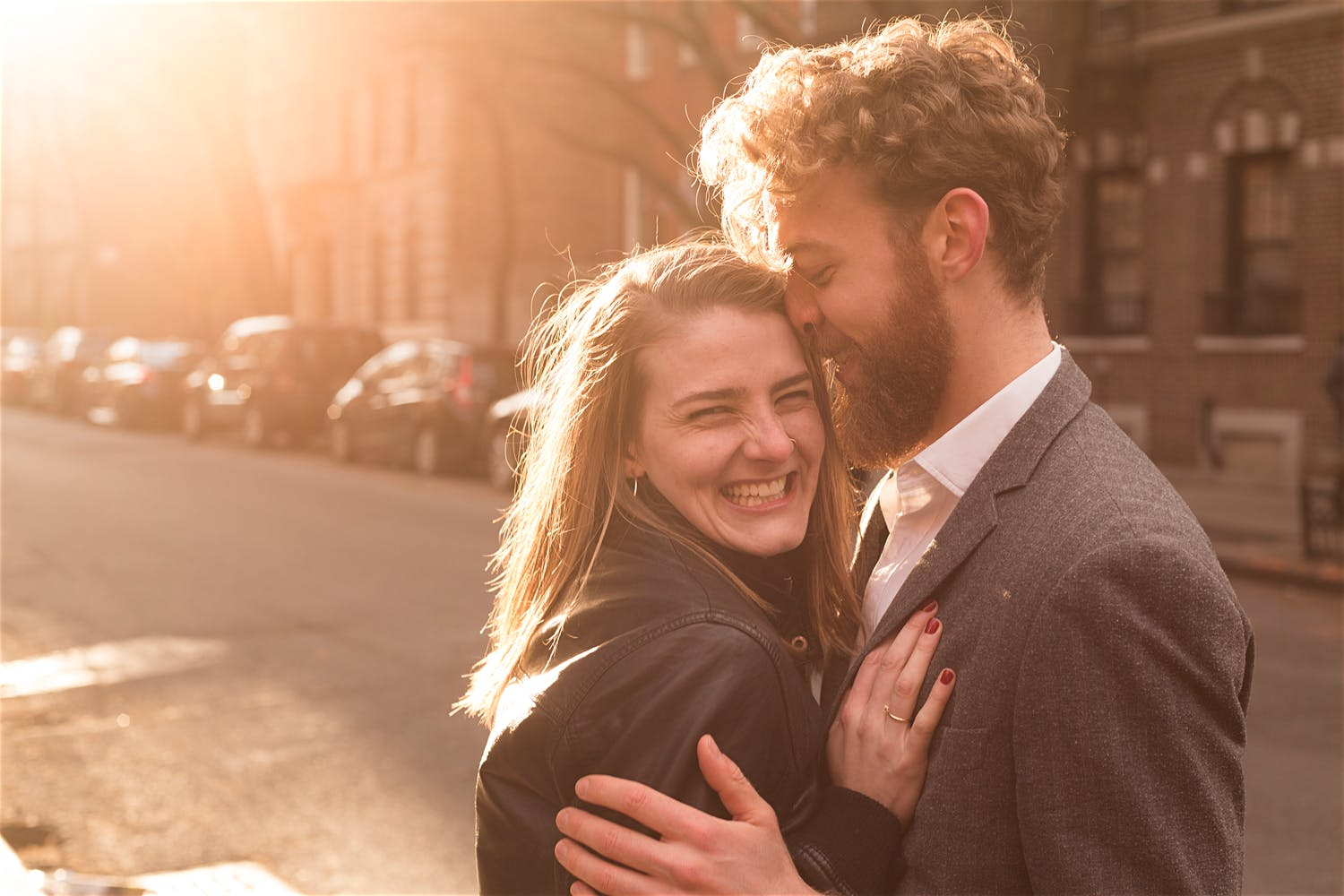 west village street engagement shoot