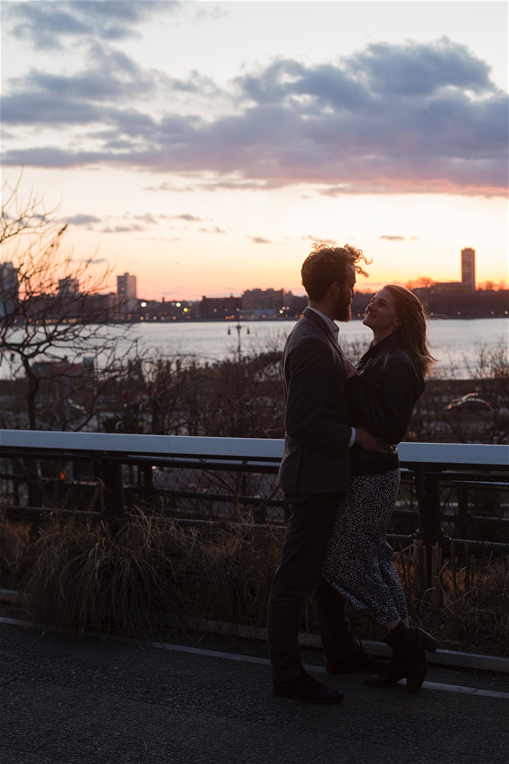 high line chelsea engagement shoot