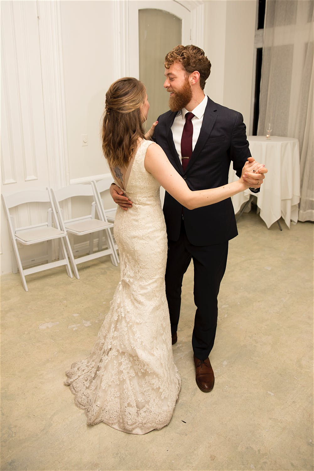 first dance maison may indoors wedding photographer