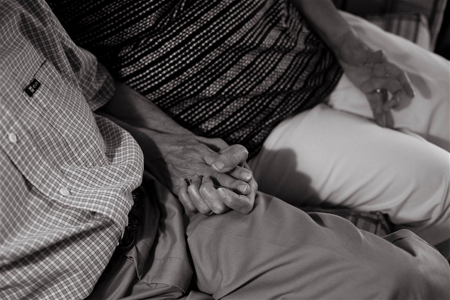 black and white grandparents holding hands brooklyn new york