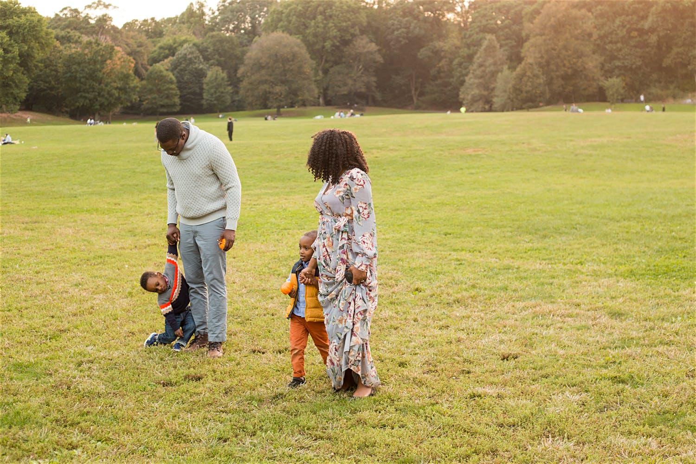 walking as a family through prospect park
