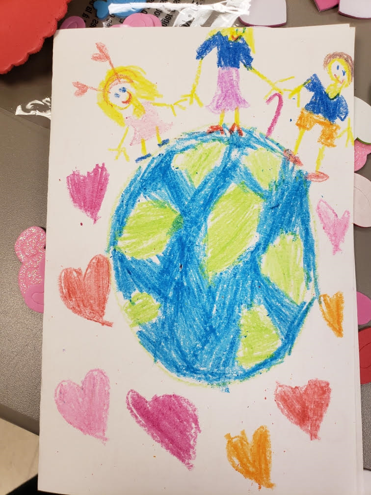 This valentine was written by a Bell Graham student, what a wonderful Act of Kindness!!