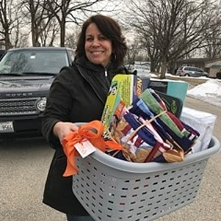 Thank you Debbie, a RAM volunteer for being involved with this RAM that helped a family with 2 young boys.     The basket was full of new bedding essentials in preparation for the twin beds that were soon to follow!!     We added a couple of fun games for the boys!!    It was through our partnership with Tri-City Family Services that we were able to make a difference for     this family of 4.      Also, this RAM wouldn't have been possible to complete without the donation from a generous community member,     Rose Canfield who provided the twin beds and dresser and had them delivered free of charge too !!