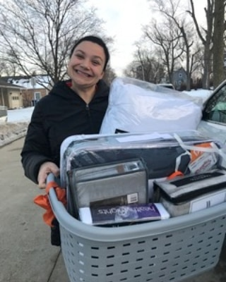 Anita delivered a basket to a 17 year old boy that needed new bedding for his new twin bed that was provided by TriCity Family Services. Its always a pleasure to come along side TriCity Family Services with the opportunity to help one of their family's in need. Thank you Anita for helping with the purchases of the items.