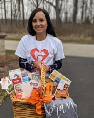 "ACT 254 : Thank you Meagan's team for putting together an amazing basket for a woman who has just begun chemo and radiation for an inoperable glioblastoma. She is married with 3 young boys.   She has a rough road ahead so the RAM team selected items that would encourage and comfort her. Also included were grocery and restaurant gift cards to help with expenses and simplify life.  Thank you to those who donated:Fox Valley Food for Health, Geneva Commons, Beauty Counter(Sara Kahlenberg), Elegant Nails, Jewelry by Maureen Piotrowski, Deane's Market and Deli, RoseRoot Essential Oils(Hannah Singer).   Thank you Meagan, Chrissy, Kathy G, Natalie, Gina and Sara for blessing her with a ""thought-filled"" basket."