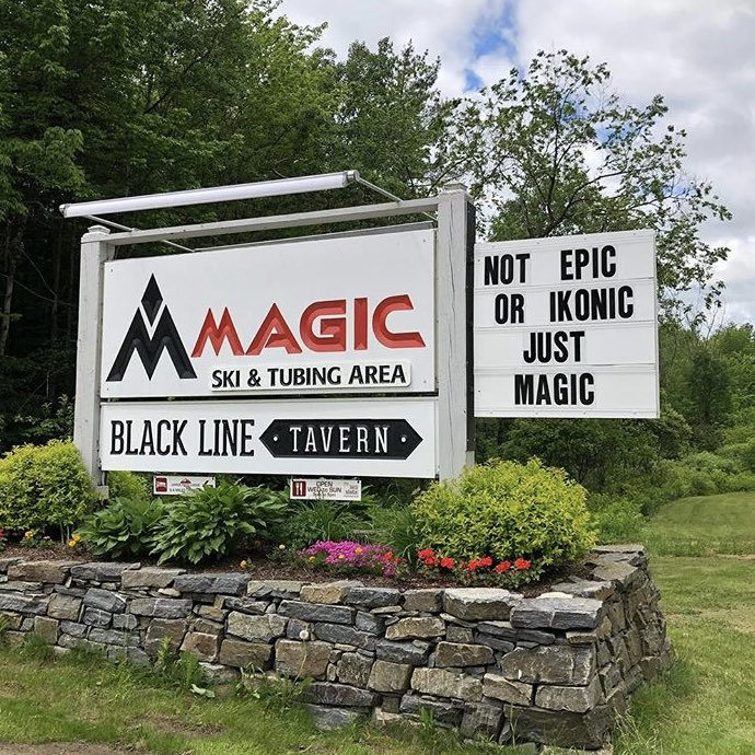 Some independent mountains like Vermont's  Magic Mountain  celebrate their independent spirit.