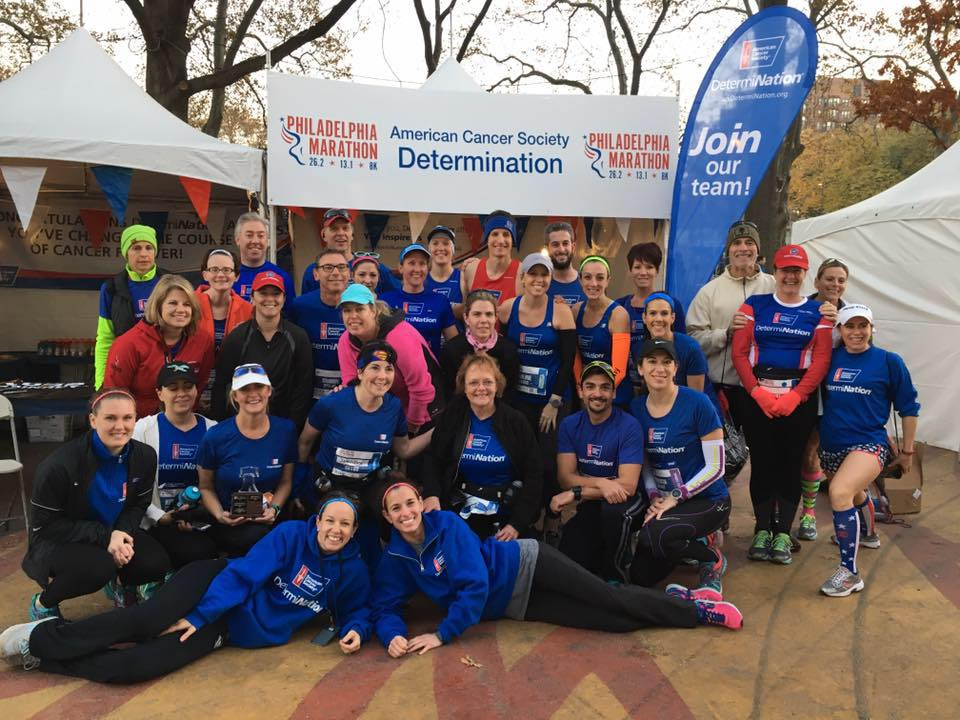 Photo via Team DetermiNation - at the 2016 Philadelphia Marathon & Half Marathon