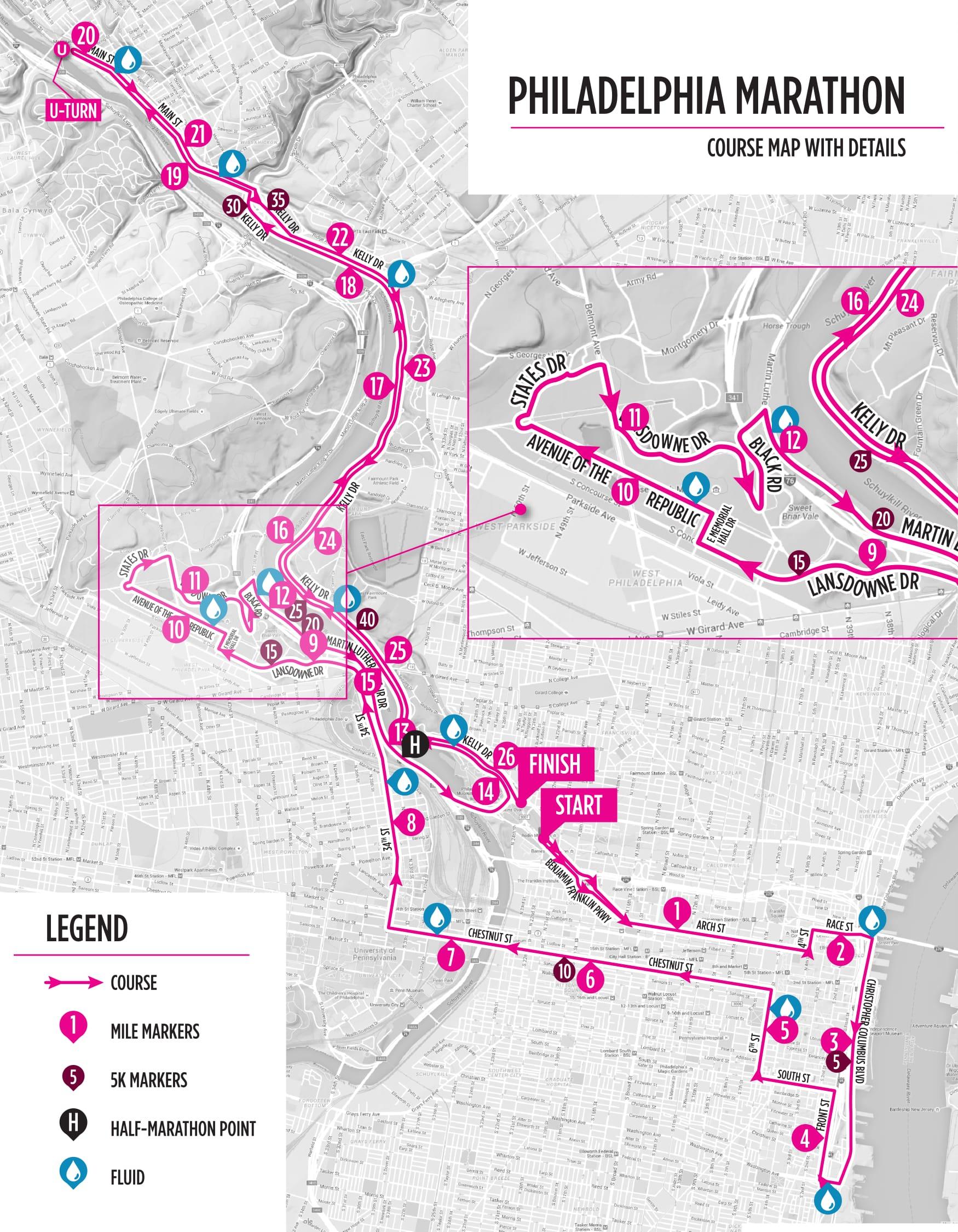 philadelphia marathon course map 2018 Guide To Philadelphia Marathon Weekend Philadelphia Runner philadelphia marathon course map