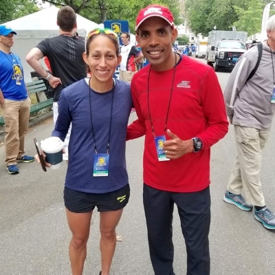 Hang out with Meb & Desi in the VIP tent!