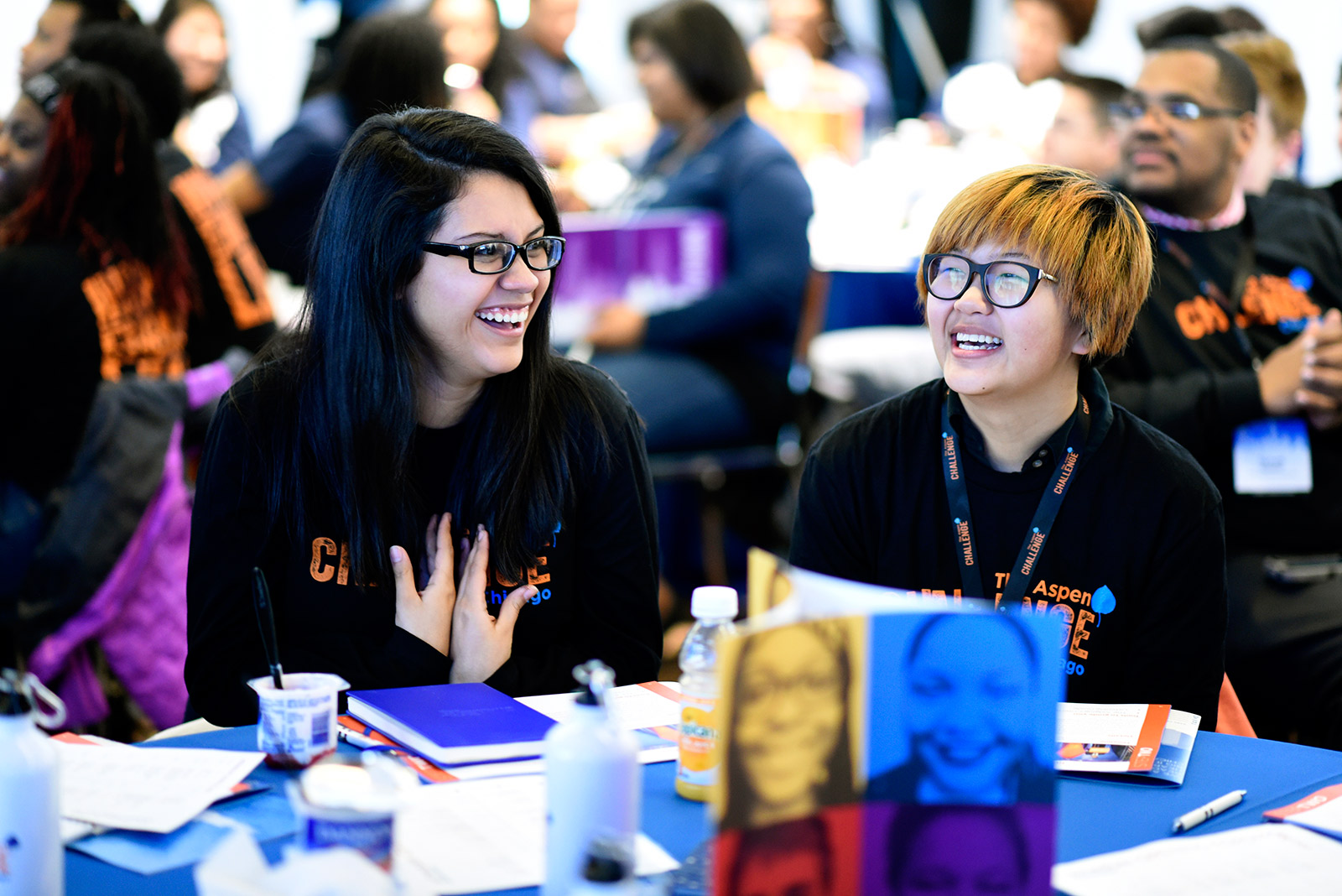 Students at the Aspen Challenge Opening Forum, Soldier Field, Chicago.