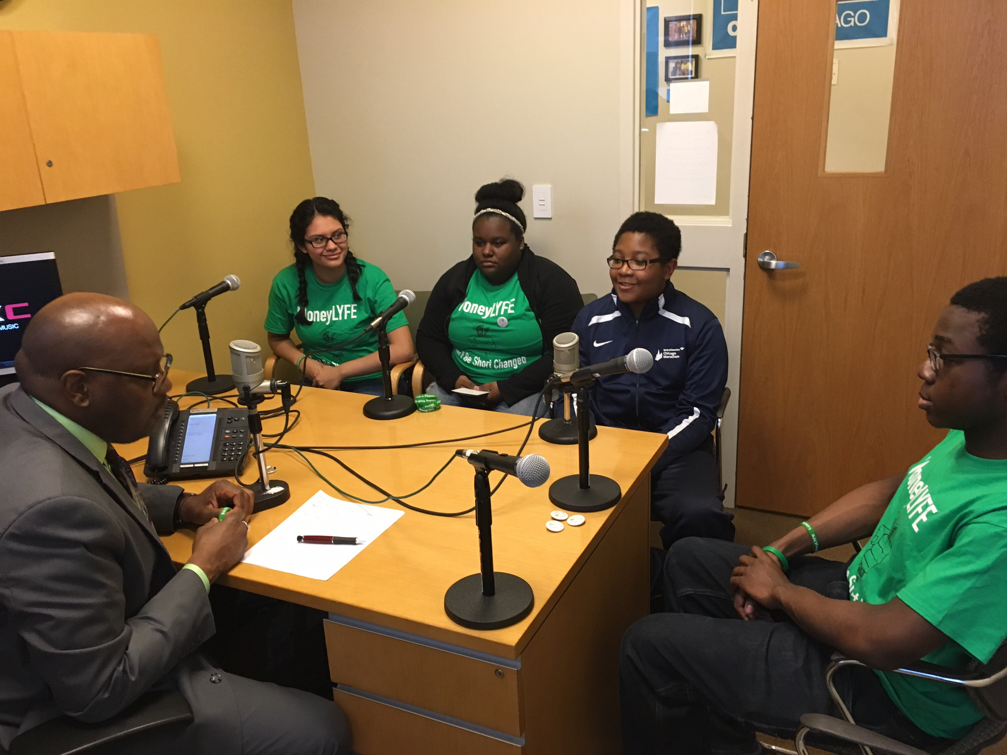 MoneyLYFE team members are interviewed by Dennis Snipe of WKKC 89.3 FM, Kennedy King College, Chicago