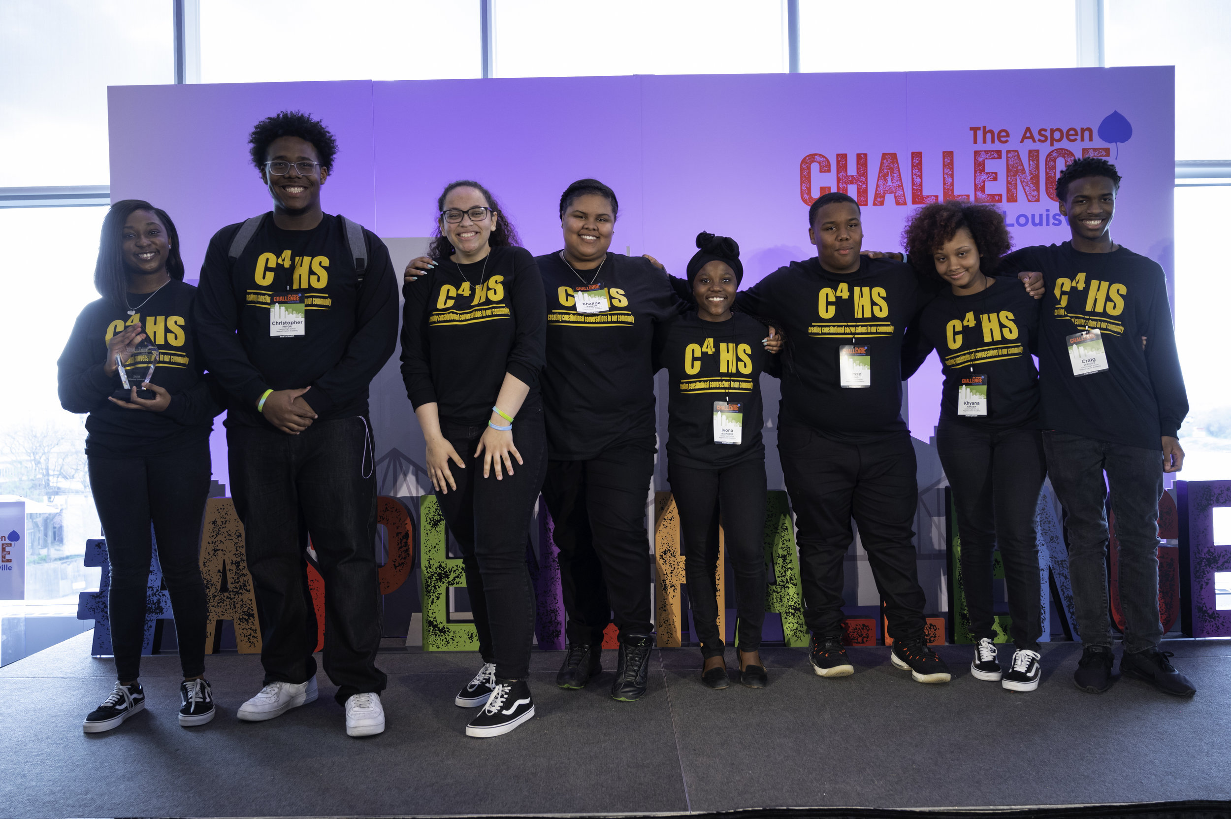 Winning Team C-4HS (Creating Constitutional Conversations in our Community), Central High School Magnet Career Academy