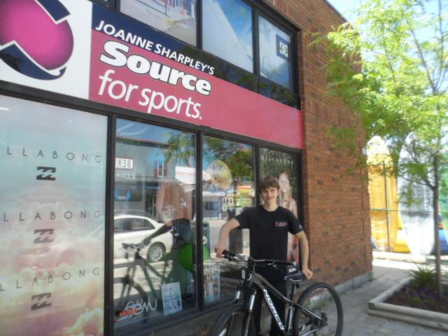 Haliburton's Nick Emsley, mountain biker and store staff member.