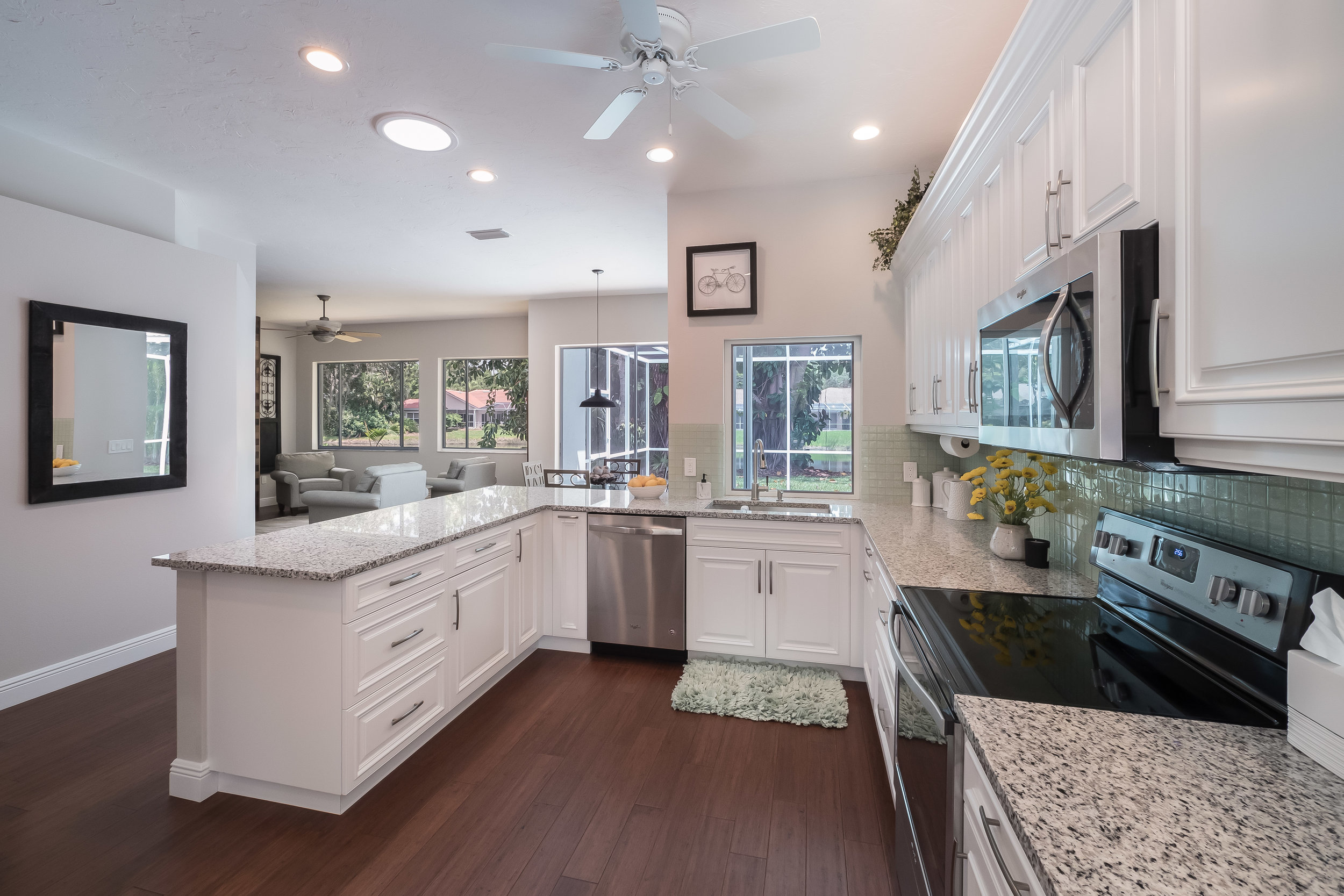 Stunning, brand new kitchen with quiet-close cabinetry, new appliances, and gorgeous granite.