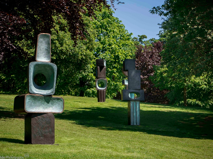 Yorkshire Sculpture Park is the only place you can view Barbara Hepworth's  The Family of Man , 1970 in its full form. © Bowness. Courtesy Yorkshire Sculpture Park. Photograph: Jonty Wilde.
