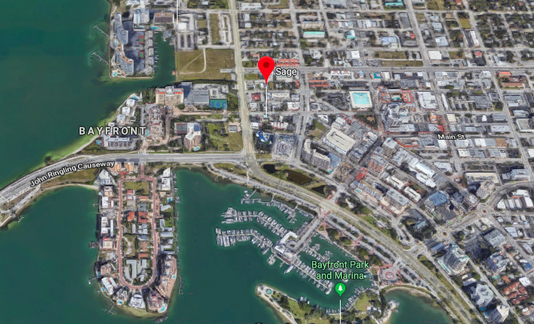 Prime location right across from the bayfront in downtown.