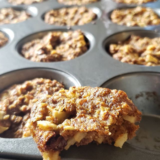 Enjoy #applepicking 🍎🍏🍎 season with these #sugarfree bran-apple muffins. If you can, go out and support your local farmer, pick some juicy macs and get baking!  These #low-glycemic wonders were made using: ▪︎ 1/3 cups of oat flour, flax meal & wheat bran ▪︎ 1/2 cup @swervesweetie sweetener ▪︎ 1/2 tsp @sweetleafstevia ▪︎ 2 large mac apples ▪︎ 1/2 tsp baking soda + baking powder ▪︎ 1 tsp vanilla ▪︎ 1/2 cup oatmilk ▪︎ 1 egg or flax egg (your call) ▪︎ 1/4 cup sunflower oil ▪︎ 1 dash of cinnamon ▪︎ chocolate chips (your call)  Happy fall, y'all #sugarconscious #vegan #plantbased #glutenfree #glutenfreevegan #kosher #dessert #eatrealfood #instahealth #cleaneating #nutritarian #whatveganseat #lowglycemic #diabeticfriendly #keto #healthytreats #wellness #madeincanada #nomnom #cookies