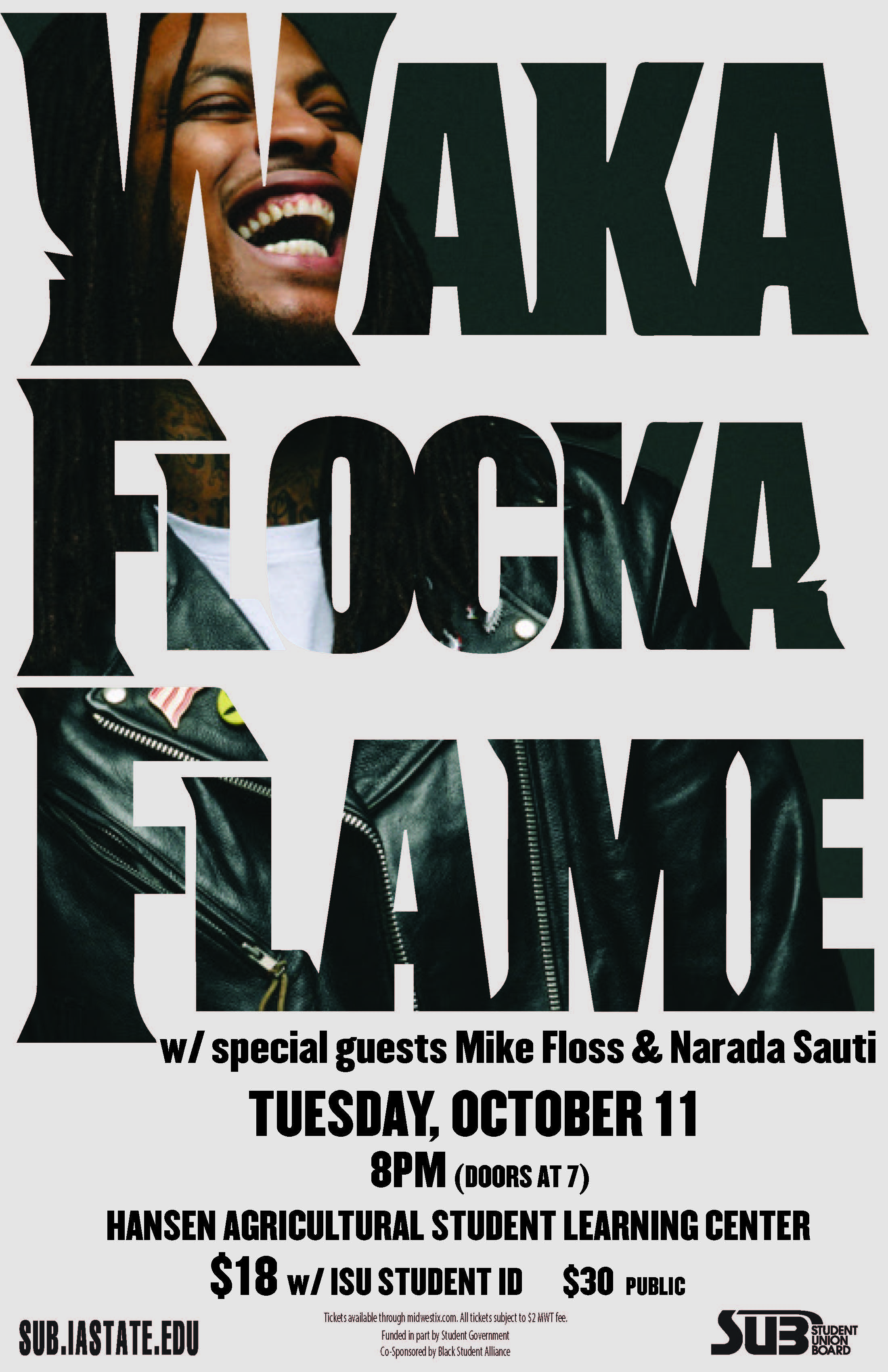 Waka Flocka Flame concert poster