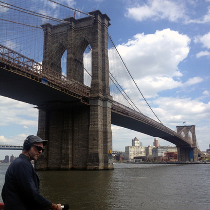 Sound walk down under the Brooklyn Bridge with Richard Garrett.