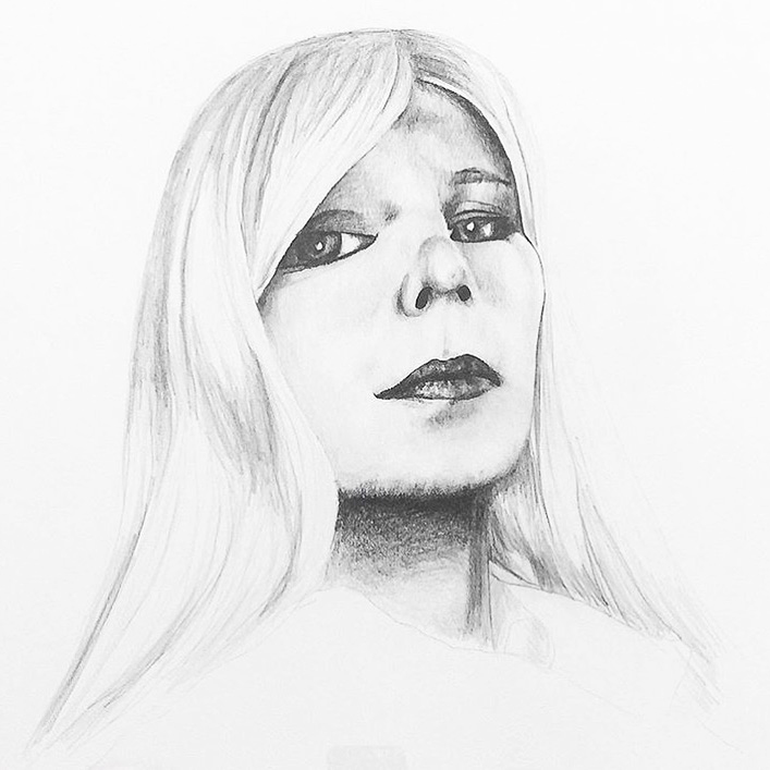 She Persisted (Chelsea Manning) , 2017, pencil on paper