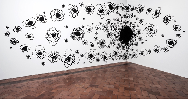 137.5 Degrees . Installation view,Cartagena Bienale, Museo Navale, Cartagena, Colombia, February - April, 2014.