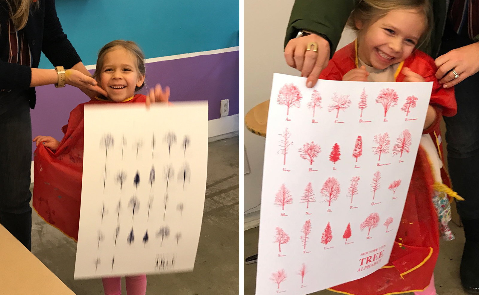 Sharing the  New York City Tree Alphabet  at the Children's Museum of the Arts, January 25, 2019.