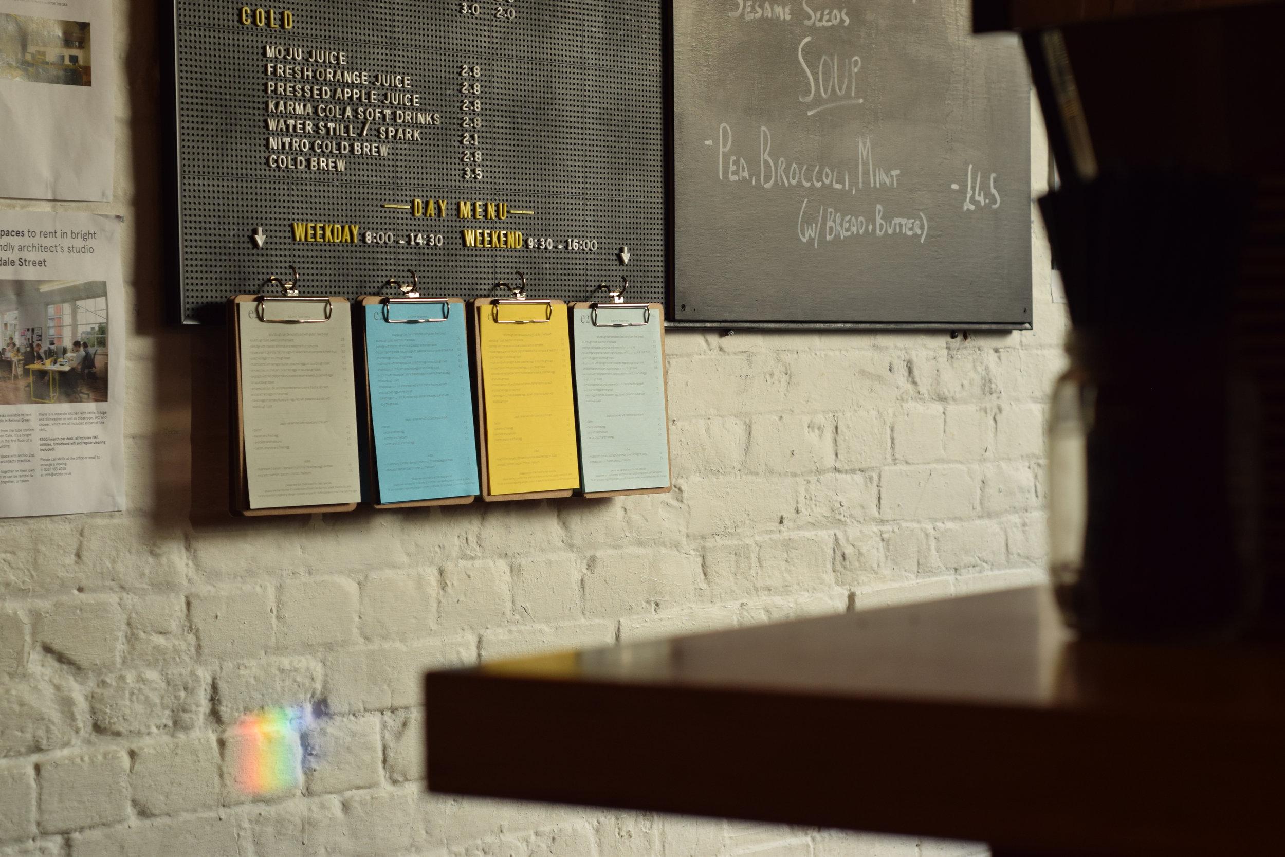 We update our menus quarterly