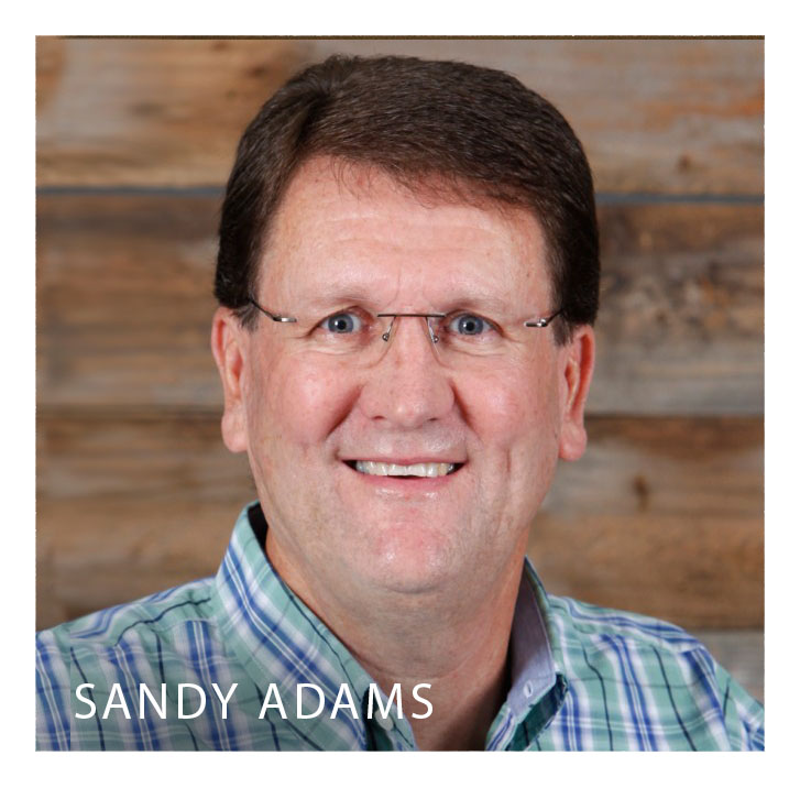 Sandy Adams is senior pastor of Calvary Chapel Stone Mountain in Atlanta, Georgia. The church started in 1980 with Sandy, his wife Kathy, and five single adults. Over the years the Lord has blessed Calvary Chapel with solid and steady growth. God has used the church and Pastor Sandy to disciple believers in Jesus, and spread His love and truth around the world.  Sandy's call from God is to bring the changeless Gospel to a changing world. He communicates with humor, and his Bible teaching is laced with practical application. His timely insights help convey the timeless truths of God's Word. Pastor Sandy's messages are easily accessible on his website, www.sandyadams.org, and he is a frequent conference speaker.  Sandy is a native of Atlanta. He and his wife, Kathy, are the parents of four children. Zach is an assistant pastor at CCSM. Natalie teaches High School. Nick graduated from UGA with a turf science degree. And Mack is currently a student at Augusta State. Sandy is also an avid sports fan.  Sandy graduated from Georgia State University. He also attended Calvary Chapel Bible College. He has authored seven books: Welcome to the Family of God, Chapter By Chapter, Christmas through the Eyes, Family Matters, Kid Gloves, The Drama of Christmas, and the internet Bible Commentary, Bible Scan.
