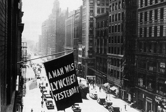 """MPI/Getty Images. From the New York Times article, """"Does This Flag Make You Flinch?"""" (link above)"""