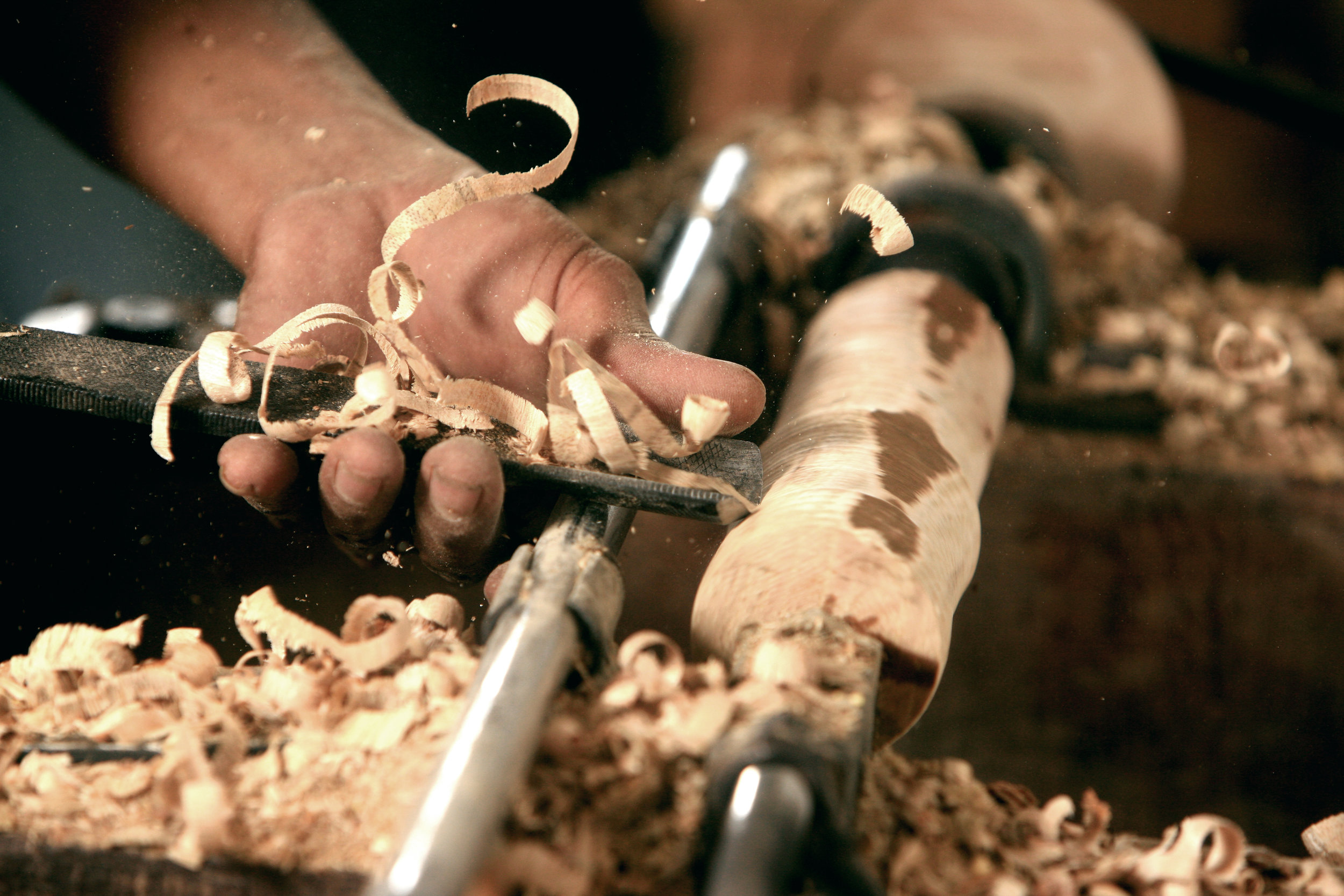 Woodturning image from Wikimedia Commons